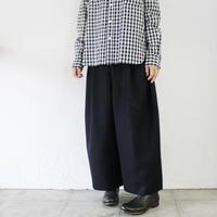homspun ホームスパン ソフトフラノ2タックパンツ #ネイビー 【送料無料】