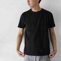 homspun ホームスパン 30/1天竺半袖TシャツBIG(XL,XXL) #粗挽杢チャコール、ブラック