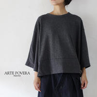 ARTE POVERA アルテポーヴェラ シルク混ワイドTシャツ #ブラック、ネイビー