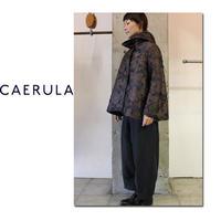 CAERULA カエルラ フラワージャガードフードコート #ネイビー 【送料無料】