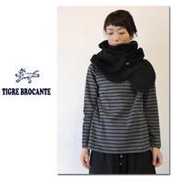 Tigre Brocante ティグルブロカンテ シープスキンムートンショール #ブラック【送料無料】