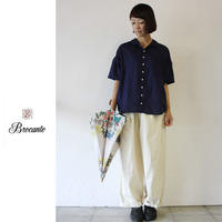 Brocante ブロカント デミリンネルシャツ ♯オフホワイト、ベージュ、ネイビー 【送料無料】