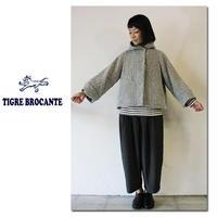TigreBrocanteティグルブロカンテ ドビーウールフードジャケット ♯グレー【送料無料】