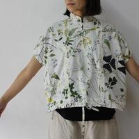ASEEDONCLOUD アシードンクラウド weeds print working blouse ♯オフ白 【送料無料】