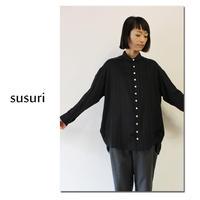 susuri ススリ ワードシャツ ♯peat stripes 【送料無料】