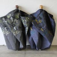 Everlasting Sprout エバーラスティングスプラウト 窓辺の花刺繍の折りたたみ傘(晴雨兼用日傘) #ネイビー、チャコールグレー 【送料無料】