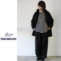 Tigre Brocante ティグルブロカンテ イタリーウールストールマンコート ♯ブラック【送料無料】