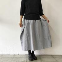 homspun ホームスパン C/Lマットギャザースカート #グレー、ブラック 【送料無料】