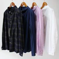 nisica ニシカ ガンジーネックシャツ ♯ネイビーチェック、インディゴ 【送料無料】