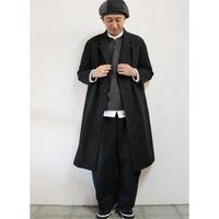 **SuKiMa別注**LASSO ラッソ Wanderer Mantel コート #ブラック 【送料無料】