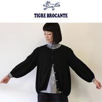 Tigre Brocante ティグルブロカンテ 60レーヨンギャザーブラウス ♯ブラック【送料無料】