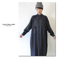 15 jyugo ジュウゴ ブラックチェックギャザーTABIワンピース ♯ブラックチェック 【送料無料】