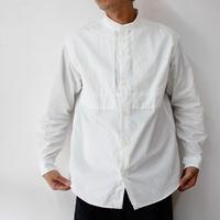nisica ニシカ バンドカラーシャツ #ホワイト、インディゴ 【送料無料】