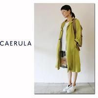 CAERULA カエルラ 25/-リネンCYAN BIG COAT #イエロー 【送料無料】
