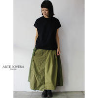 ARTE POVERA アルテポーヴェラ RE-ARMEEシャツMIXアシンメトリースカート #オリーブMIX 【送料無料】