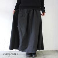 ARTE POVERA アルテポーヴェラ 東ドイツワークMIXリメイクスカート #ブラックMIX 【送料無料】