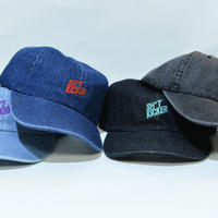 SH*T KICKER SLANTING LOGO DENIM LOW CAP