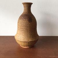 八重山陶磁 アメ釉渡名喜瓶/宮良断(アンパル陶房)