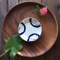 やちむん リム皿(4寸)/菊花/宮城正幸