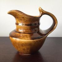 八重山陶磁 アメ釉水差し(陶器)/宮良断(アンパル陶房)