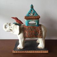八重山陶磁 白象香炉/宮良ゆうな(アンパル陶房)