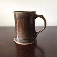 八重山陶磁 縄文マグカップ(陶器)/宮良断(アンパル陶房)