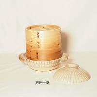 土鍋とセイロのセット 杉のせいろ 径18㎝(2段せいろ)