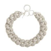 1点のみ crochet bracelet 09B57 / silver