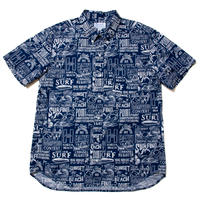 Men's Hawaiian Button Down Shirts - Surfing