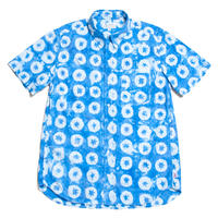"Men's Hawaiian Button Down Shirts - Shibori Indigo ""O"""
