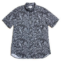 Men's Hawaiian Button Down Shirts - Aloha Black