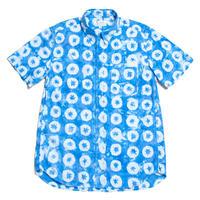 """Men's Hawaiian Button Down Shirts - Shibori Indigo """"O"""""""