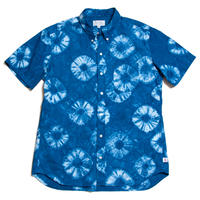 "Men's Hawaiian Button Down Shirts - Shibori Indigo ""Blue"""