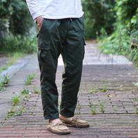 Herringbone Cargo Pants - KHAKIGREEN