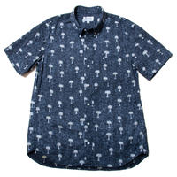 <Coming Soon...> Men's Hawaiian Button Down Shirts - Pineapple Black