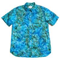 Men's Hawaiian Button Down Shirts - Fern Leaves