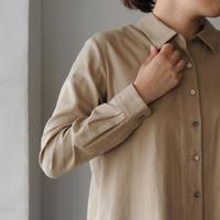 Houttuynia cordata ボックス型シャツ cotton wool