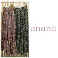 小花柄ティアードスカート ananaアナナ