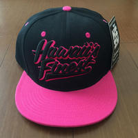"HAWAII'S FINEST ""SCRIPT"" SNAP BACK HAT PNK/BLK"