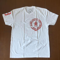 "POLY LOVE HAWAII ""ALOHA STATE UNIVERSITY"" STAMP  WHT/RED TEE"