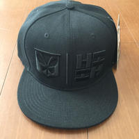 "HAWAII'S FINEST ""SIMPLE LOGO"" SNAP BACK HAT  BLK/BLK"