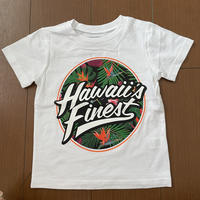 【KIDS TEE】2020 HIFI PEPELUALI LINE【HAWAII'S FINEST】TROPICAL WHITE