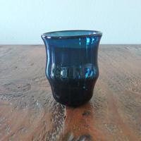 吹きガラス工房 彩砂 くびれグラス大 紺