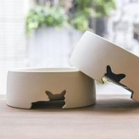 ワンボウル(フレブル型抜き陶器製フードボウル)