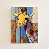 mikimikimikky1016. 「colorful wood giraffe」アート作品・原画