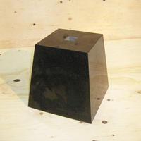 束石 角 御影石(山西黒)本磨き 上面約15cm高さ21cm T-8 リフォーム 建築石材つか石 基礎石 柱石 新築 オーダーメイド