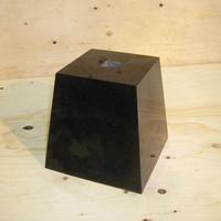 束石 角 御影石(山西黒)本磨き 上面約15.3cm高さ約約21cm T-9リフォーム 建築石材つか石 基礎石 柱石 新築 オーダーメイド