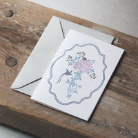 """Letterpress Card """"花鳥風月/鳥 スクエア型 単品<大>"""