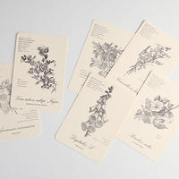 Letterpress card 【FLOWER CARD】