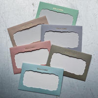 NAME CARD ENVELOPE 【四角雲型】【書体 3 】
